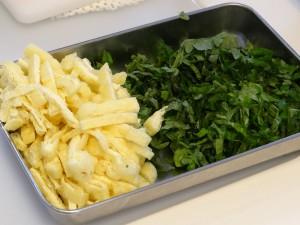 焼き大根の香り混ぜご飯-大葉・油揚げ