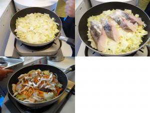 たっぷり白菜とタラのとろ〜りチーズ蒸し焼き-手順